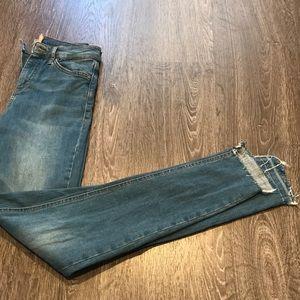 Topshop Jamie Step Hem Denim Jeans